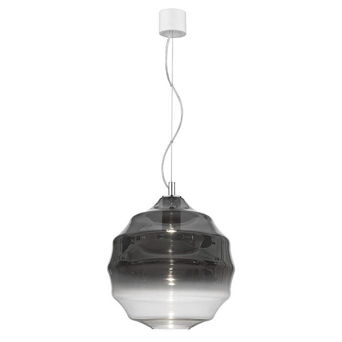 Big pendant smoked glass Seyvaa 811S-11