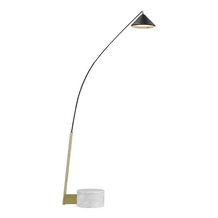 Flex lampadaire marbre carbone LED 817F Seyvaa