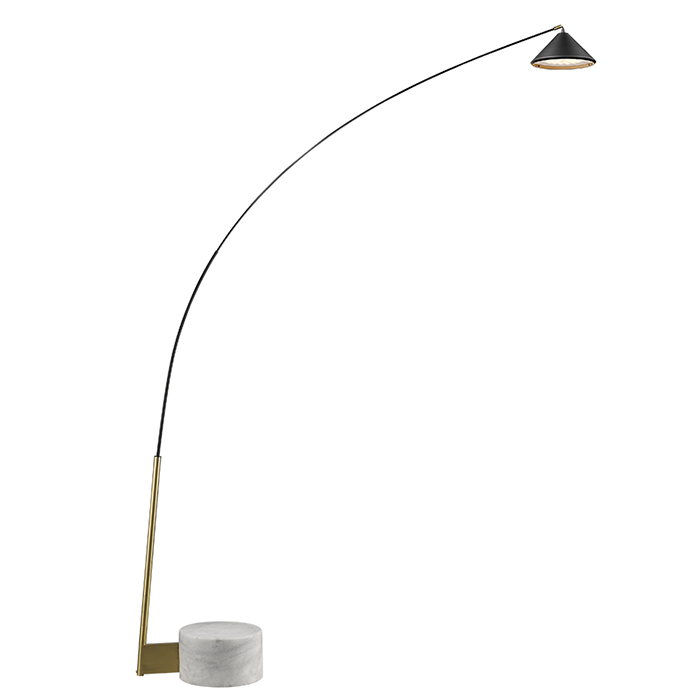 Seyvaa Flex lampadaire LED dimmable marbre et carbone817F